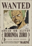 Ronoroa Zoro wanted poster