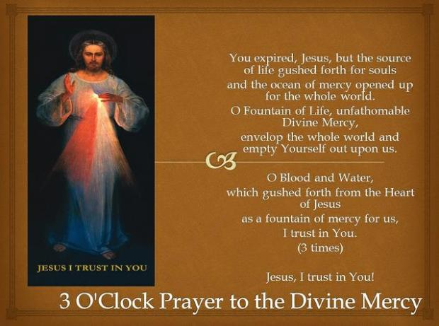 3 o clock prayer divine mercy