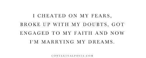 marrying my dreams