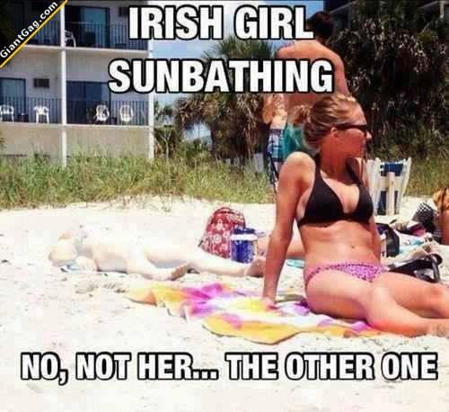 Irish Girl Sunbathing, Not Her, The Other One