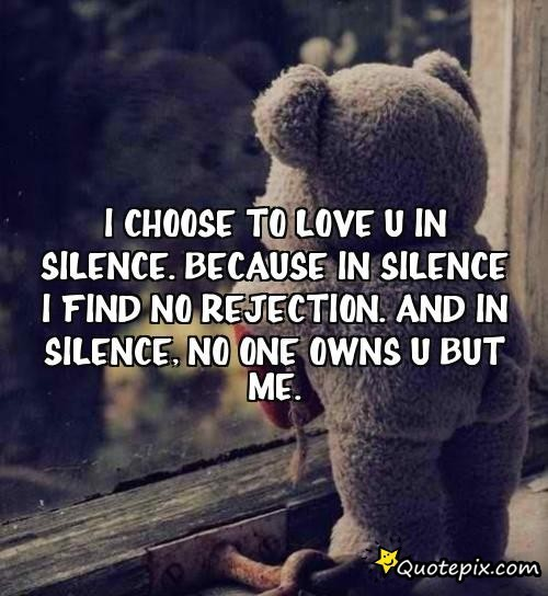 love in silence quotes