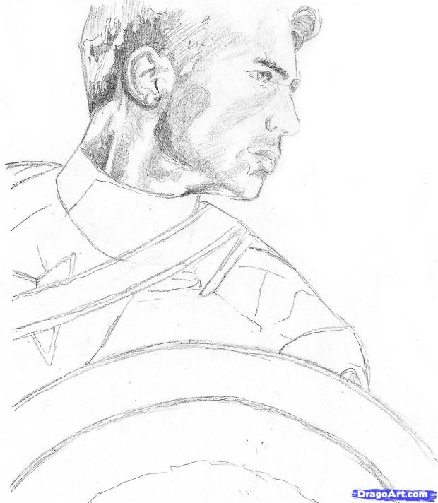 captain america drawing2